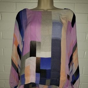 Worthington multicolored flowy top size XL